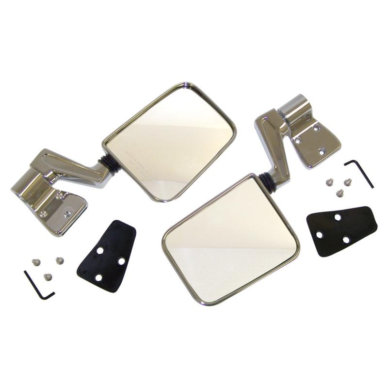 Crown Automotive 82200834CK Jeep Replacement Mirror Kit, Left & Right, Chrome, 1987-2002 Style Jeep Left and Right