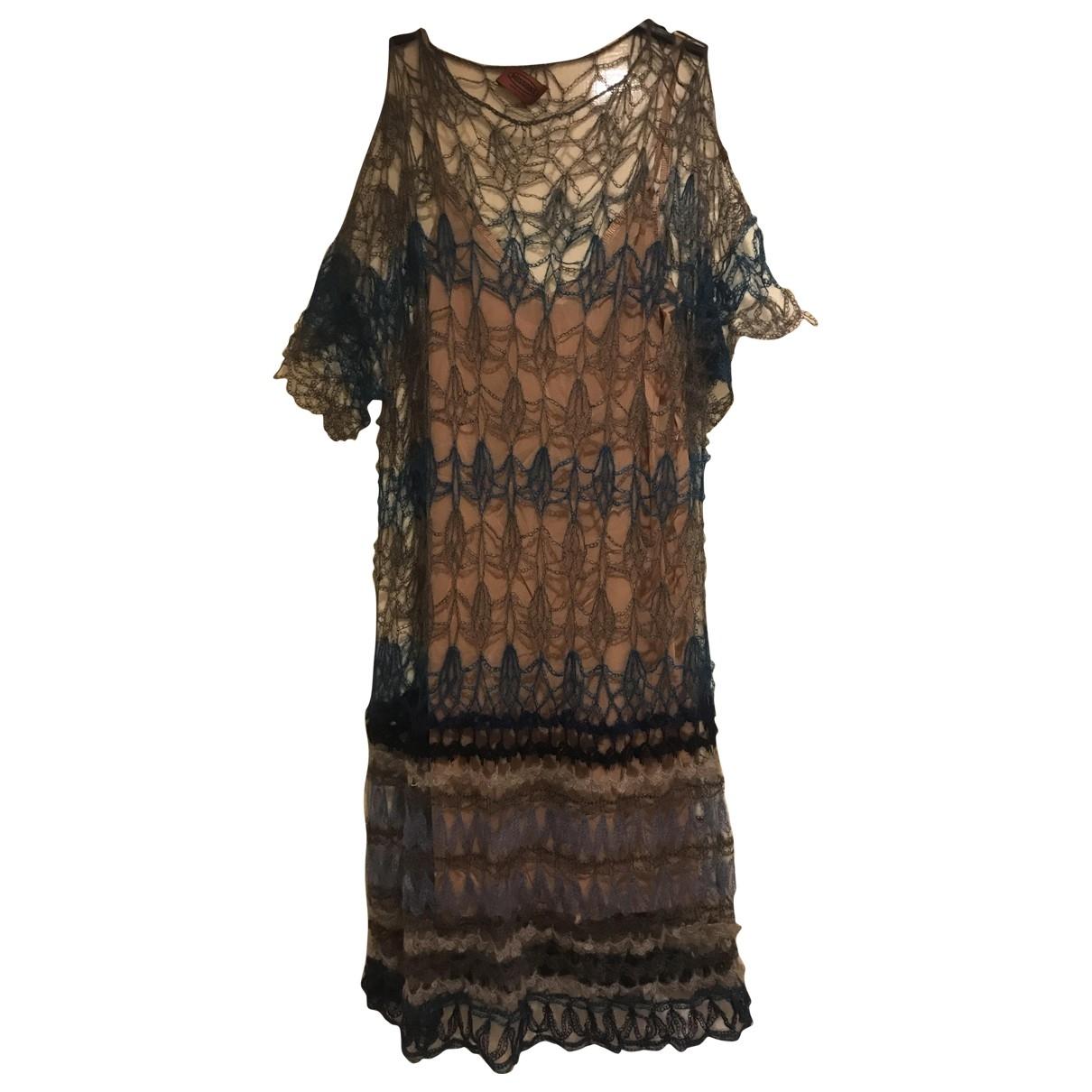 Missoni - Robe   pour femme en laine - bleu