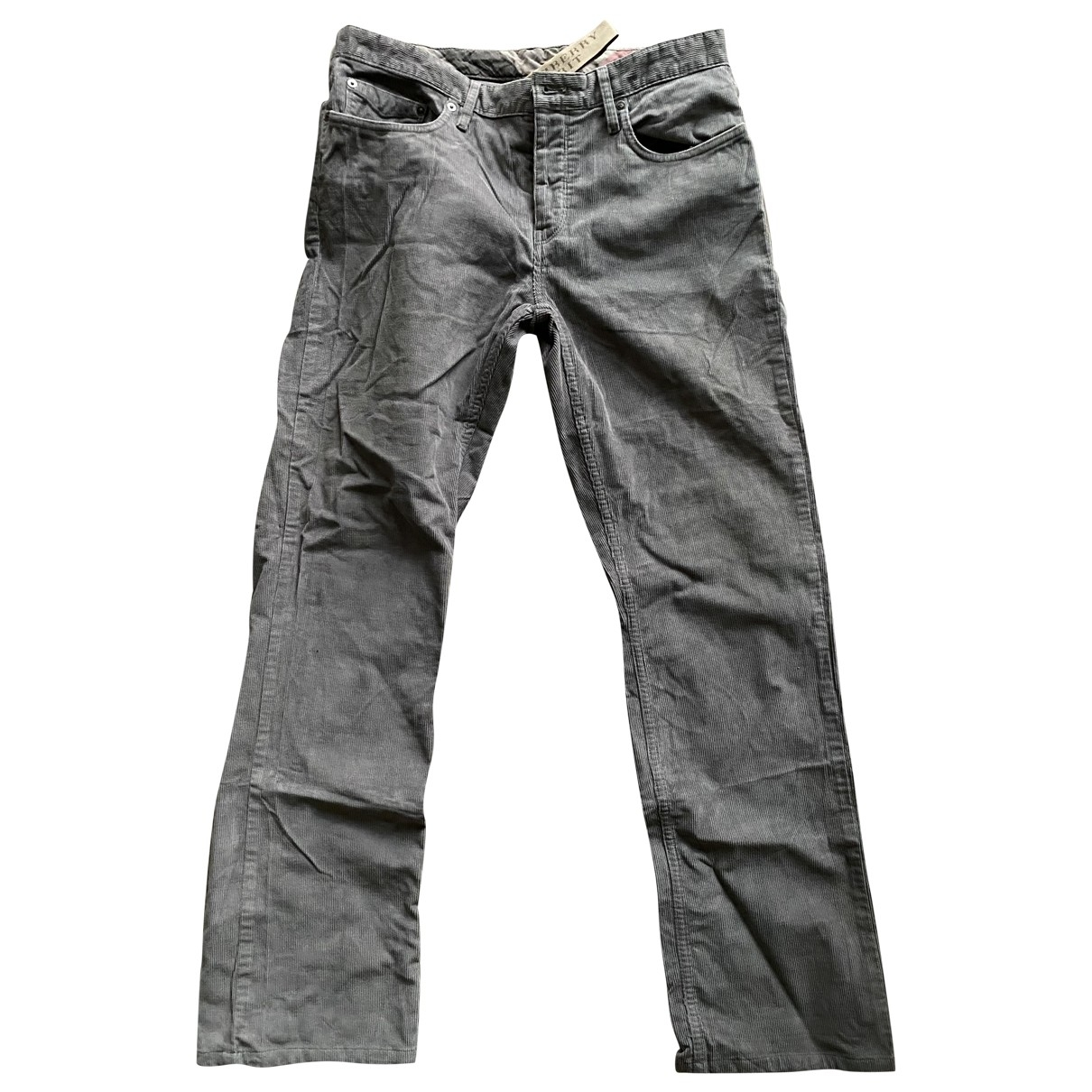 Burberry \N Grey Cotton Trousers for Men 30 UK - US