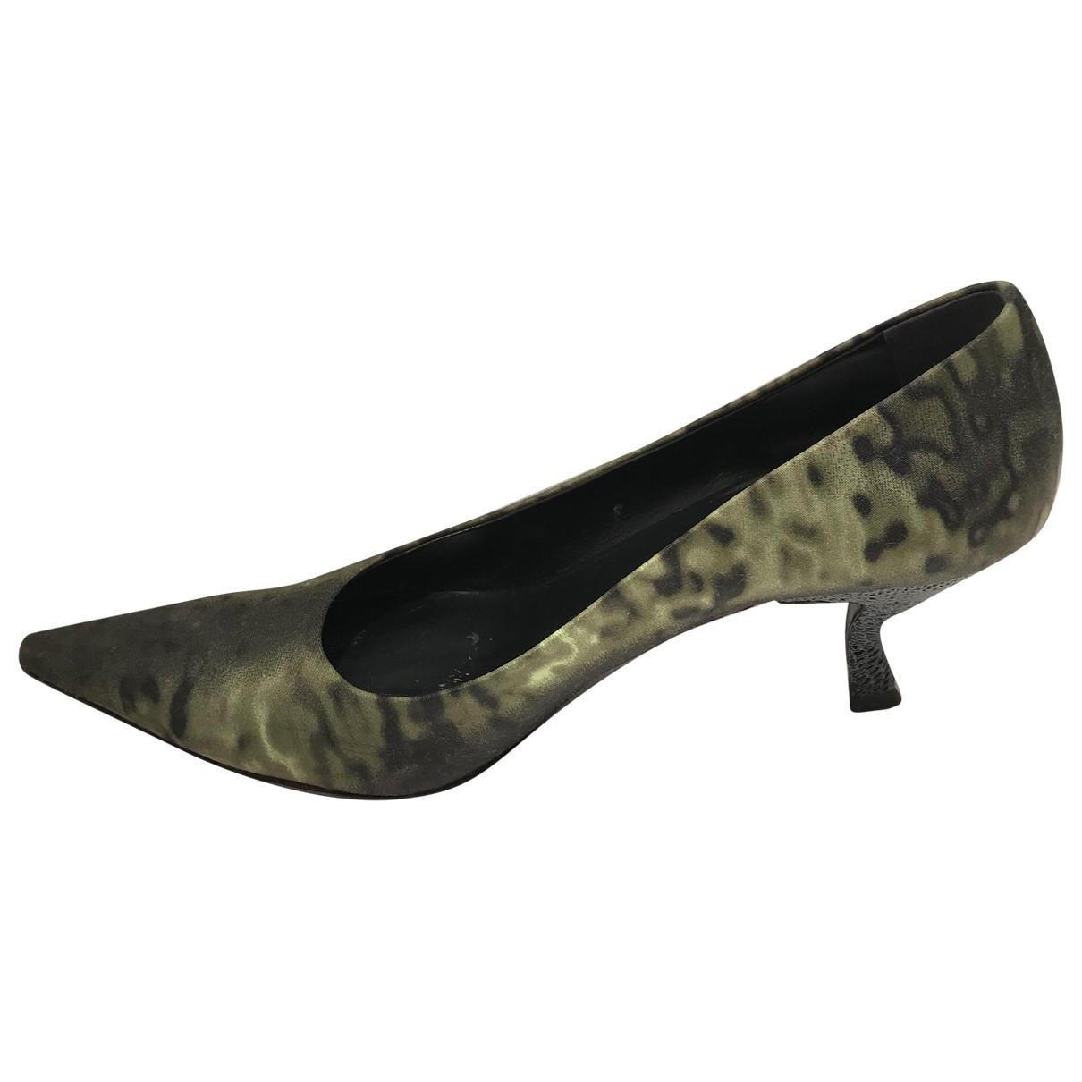 Prada \N Green Cloth Heels for Women 39 EU