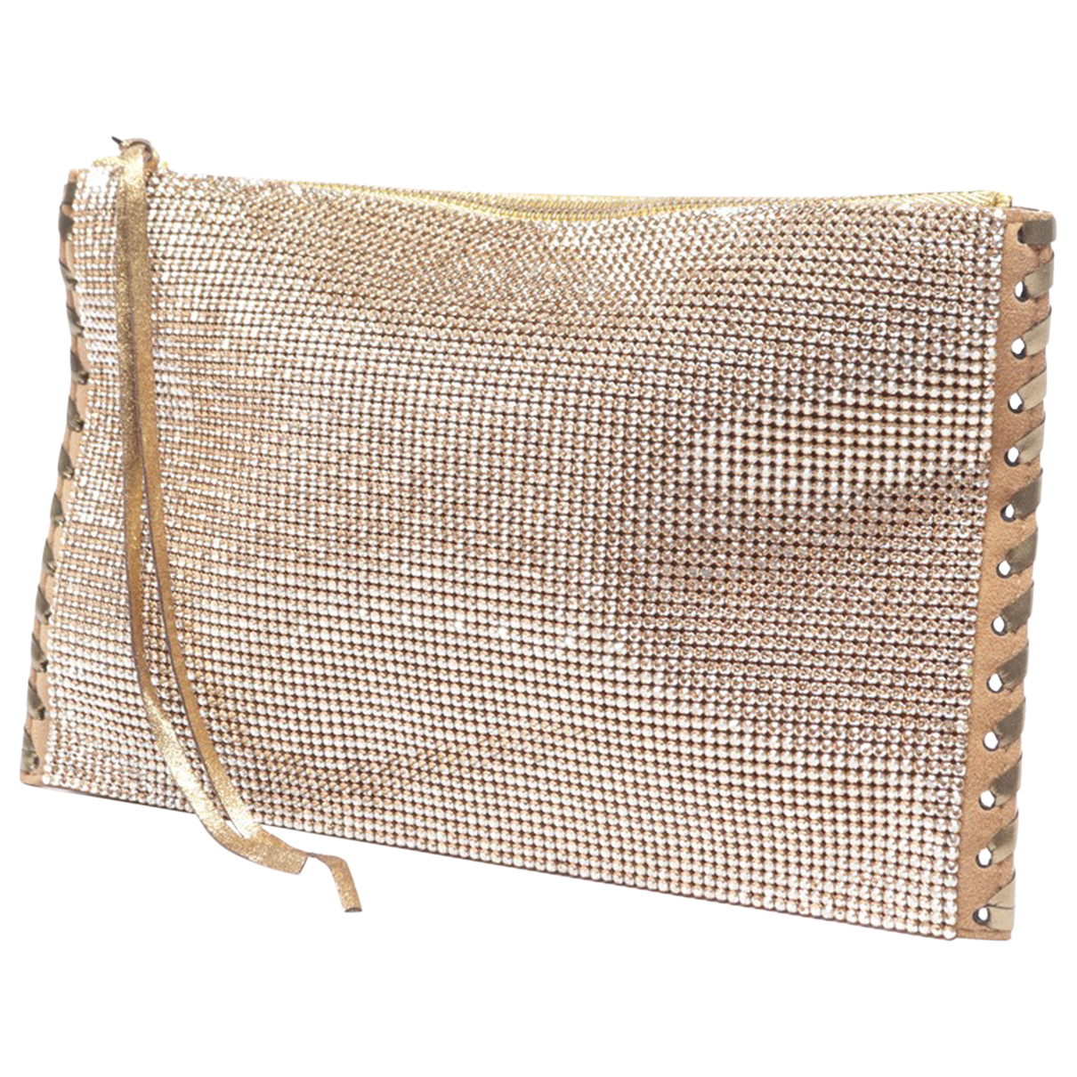 Balmain \N Metallic Leather Clutch bag for Women \N