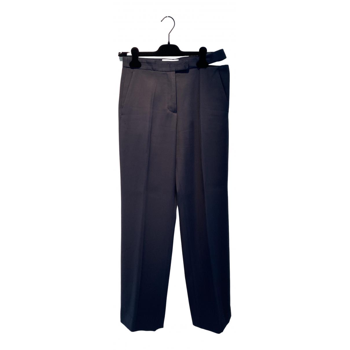 Maison Martin Margiela \N Navy Cotton Trousers for Women 40 IT