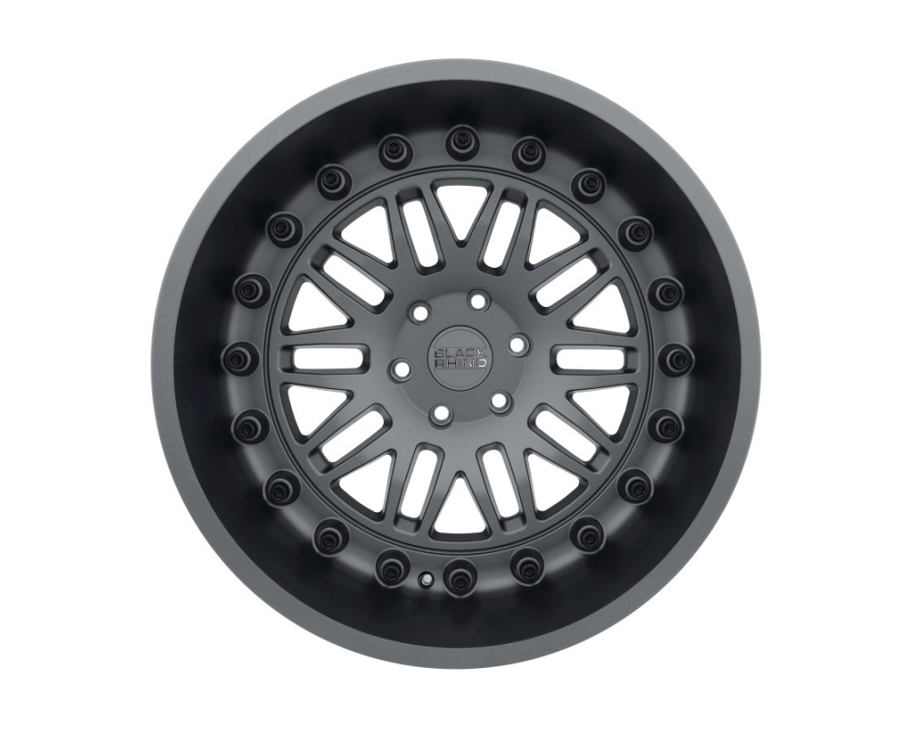 Black Rhino Fury Matte Gunmetal Wheel 17x9.5 6x139.70 6x5.5 12mm CB112