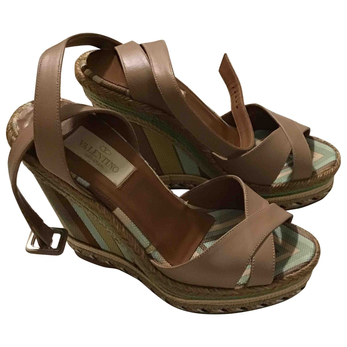 Valentino Garavani \N Camel Leather Sandals for Women 35 EU