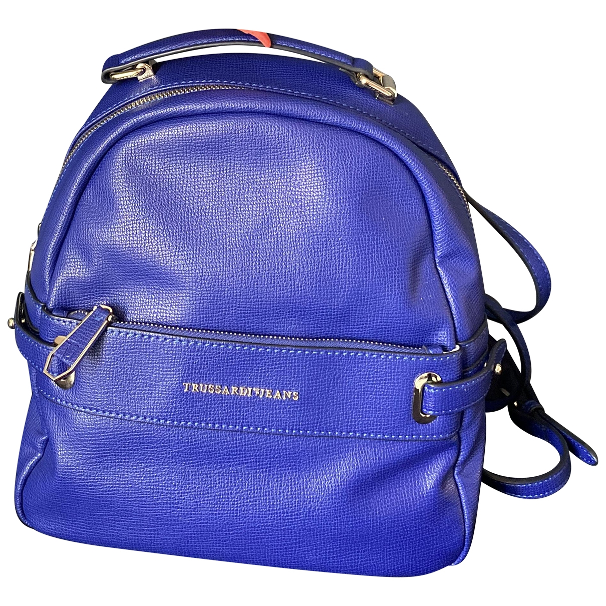 Trussardi Jeans \N Blue Leather backpack for Women \N
