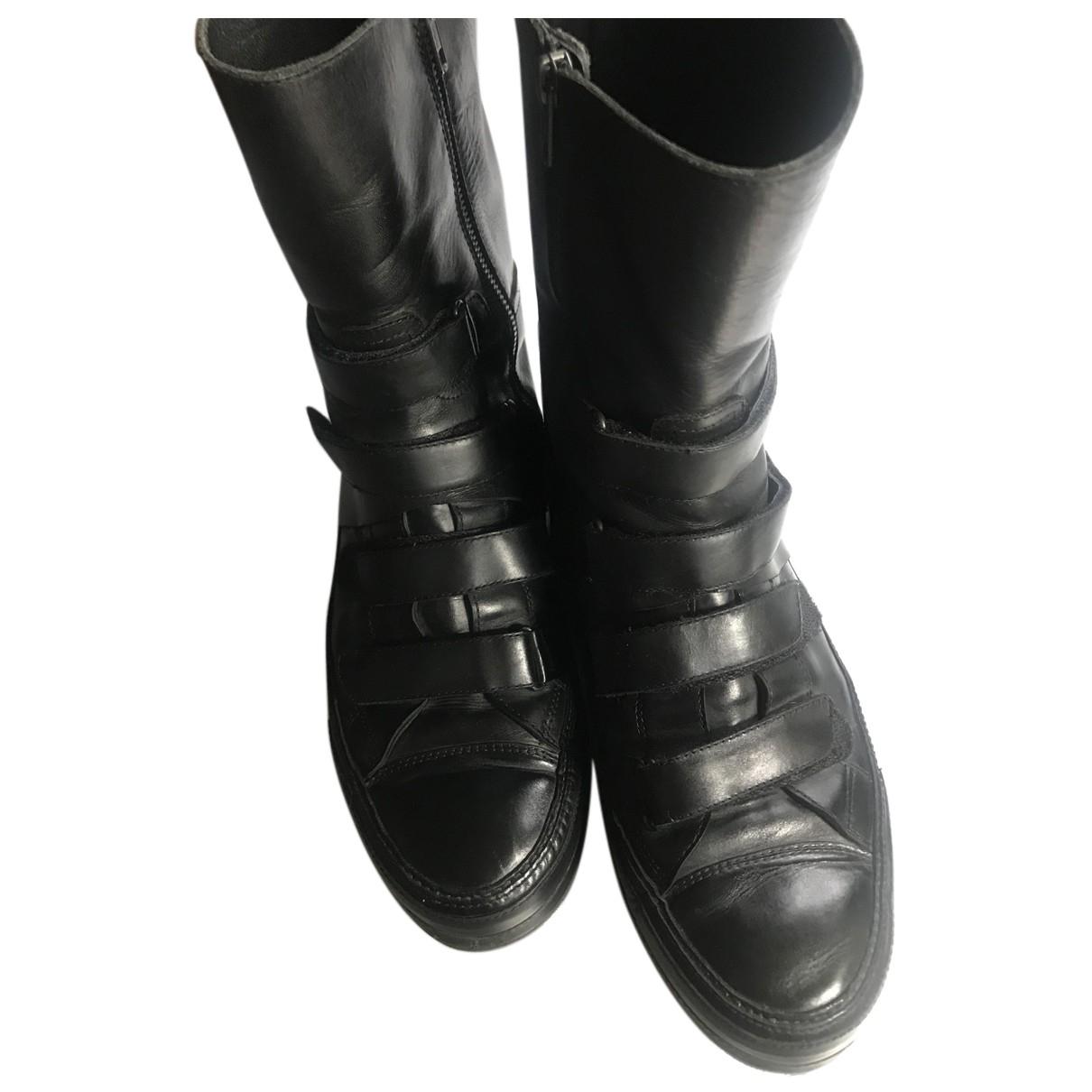 Ann Demeulemeester \N Stiefel in  Schwarz Leder