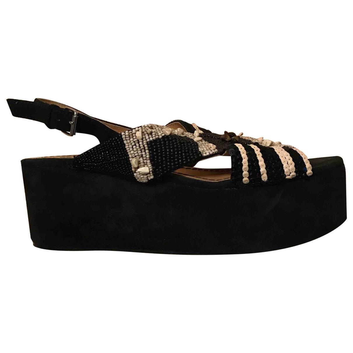 Maliparmi - Sandales   pour femme en suede - noir