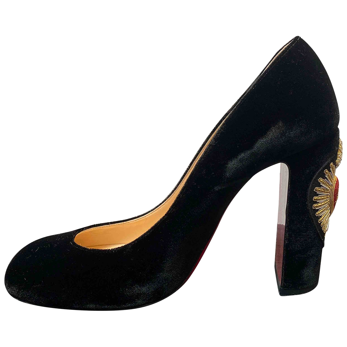 Christian Louboutin \N Pumps in  Schwarz Samt