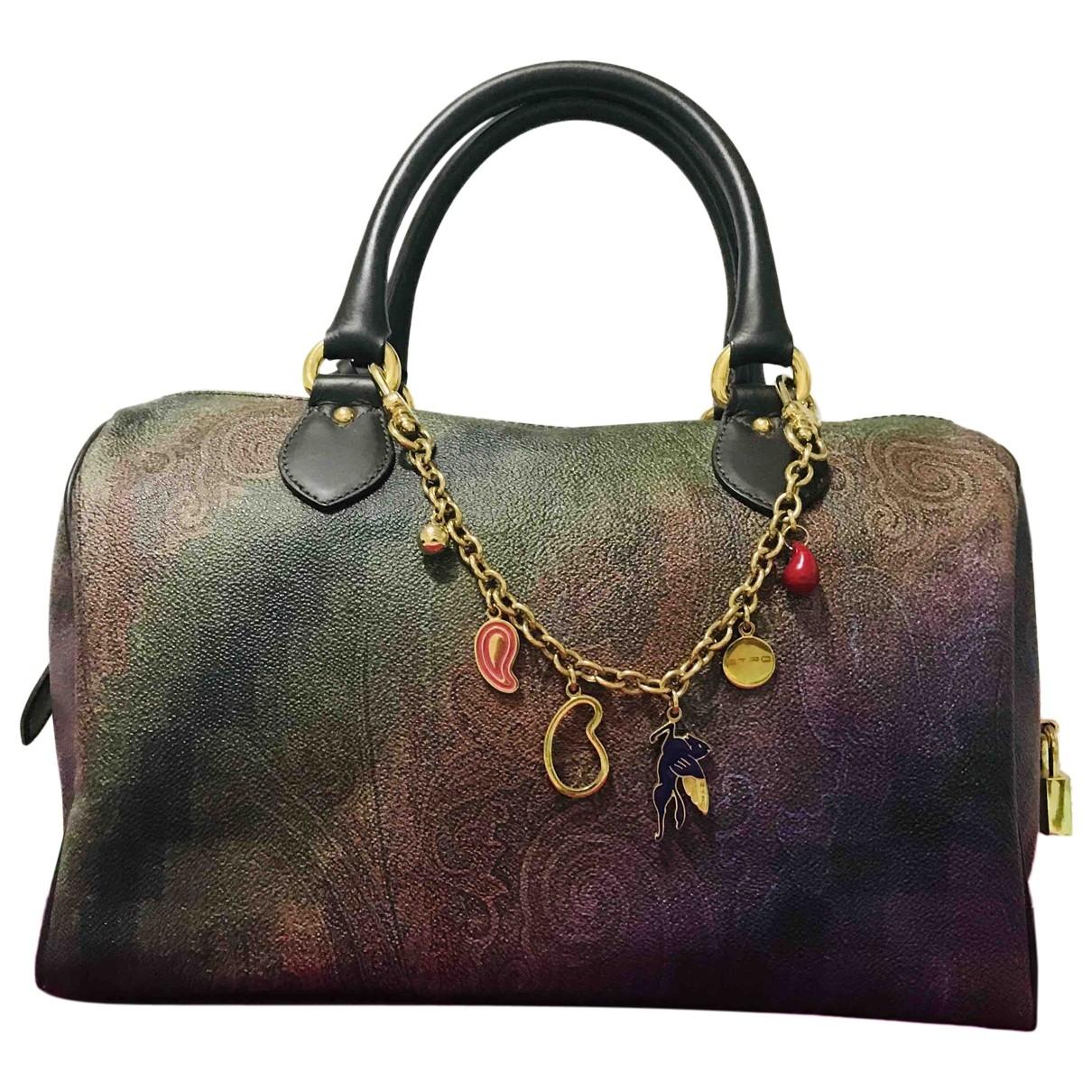 Etro \N Handtasche in  Bunt Leinen