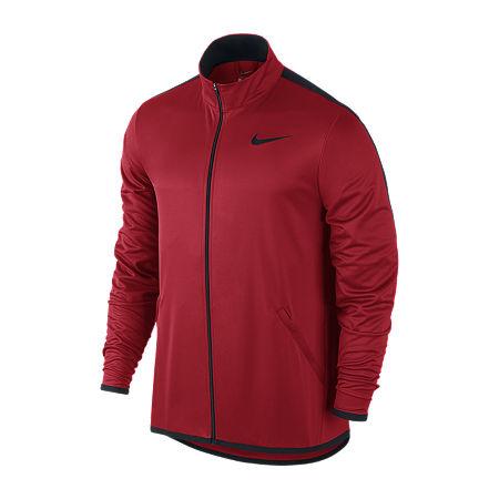 Nike Big and Tall Mens Mock Neck Long Sleeve Sweatshirt, Large Tall , Red