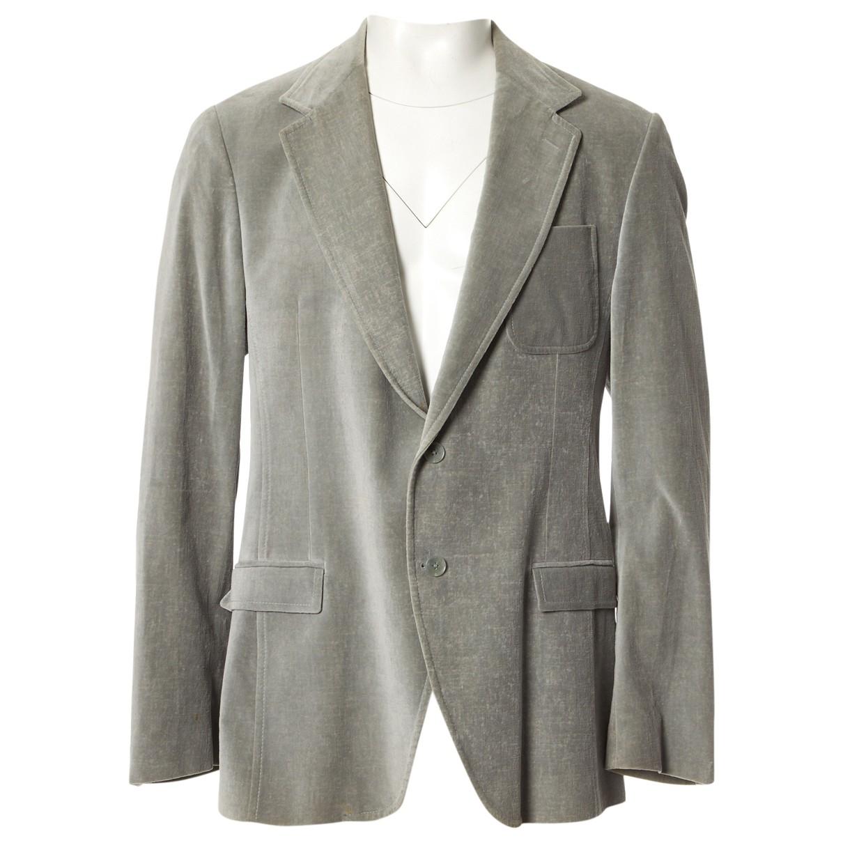 Dolce & Gabbana \N Jacke in  Grau Samt