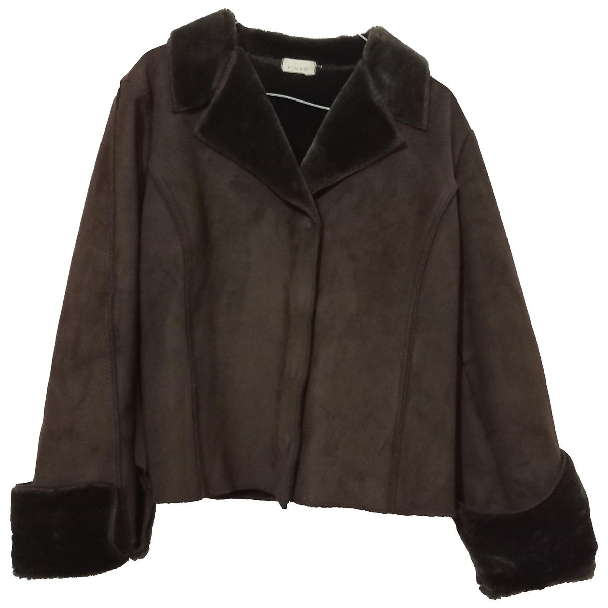 Pinko N Brown Suede jacket for Women 44 IT
