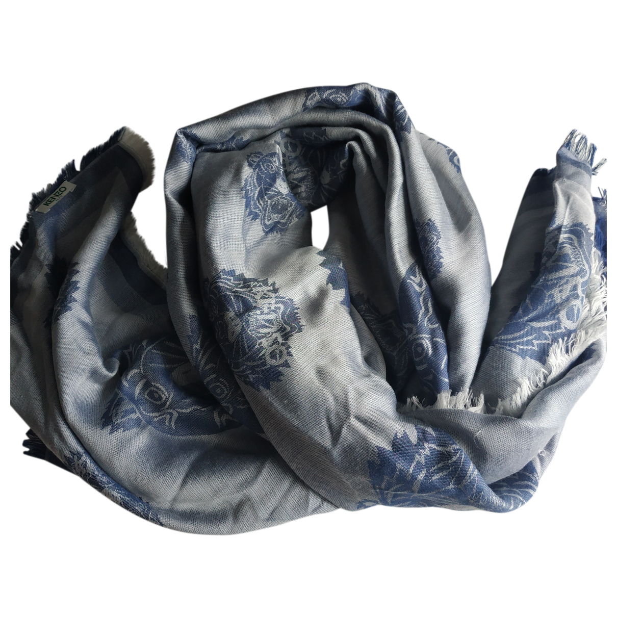 Kenzo \N Schal in  Blau Baumwolle