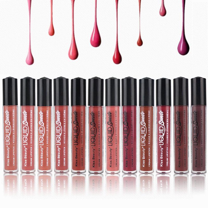 Cream Matte Liquid Lipstick Long-Lasting Lip Gloss Super Stay Non Sticky Liquid Lipstick Lip Makeup