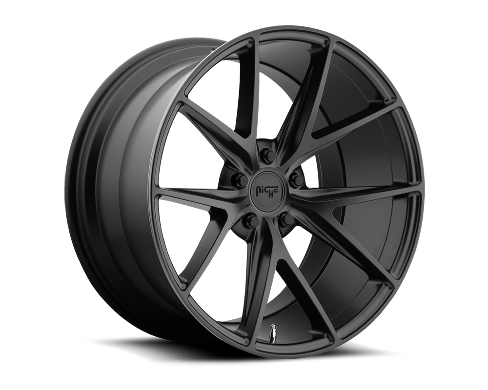 Niche M117 Misano Satin Black 1-Piece Cast Wheel 22x10.5 5x114.3 40mm