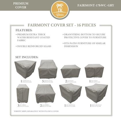 FAIRMONT-17bWC-GRY Protective Cover Set  for FAIRMONT-17b in