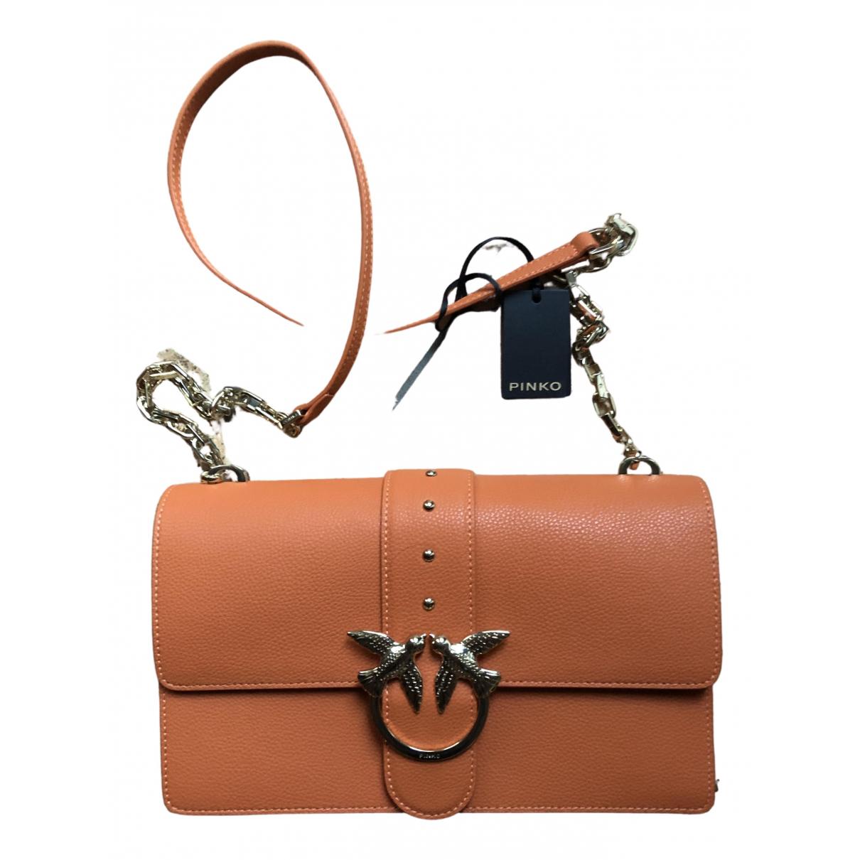 Pinko - Sac a main Love Bag pour femme en cuir - orange