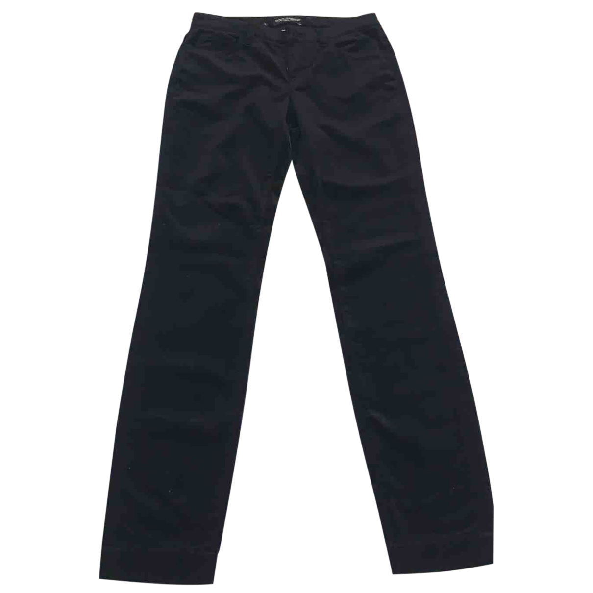Dolce & Gabbana N Black Cotton Trousers for Women 34 FR