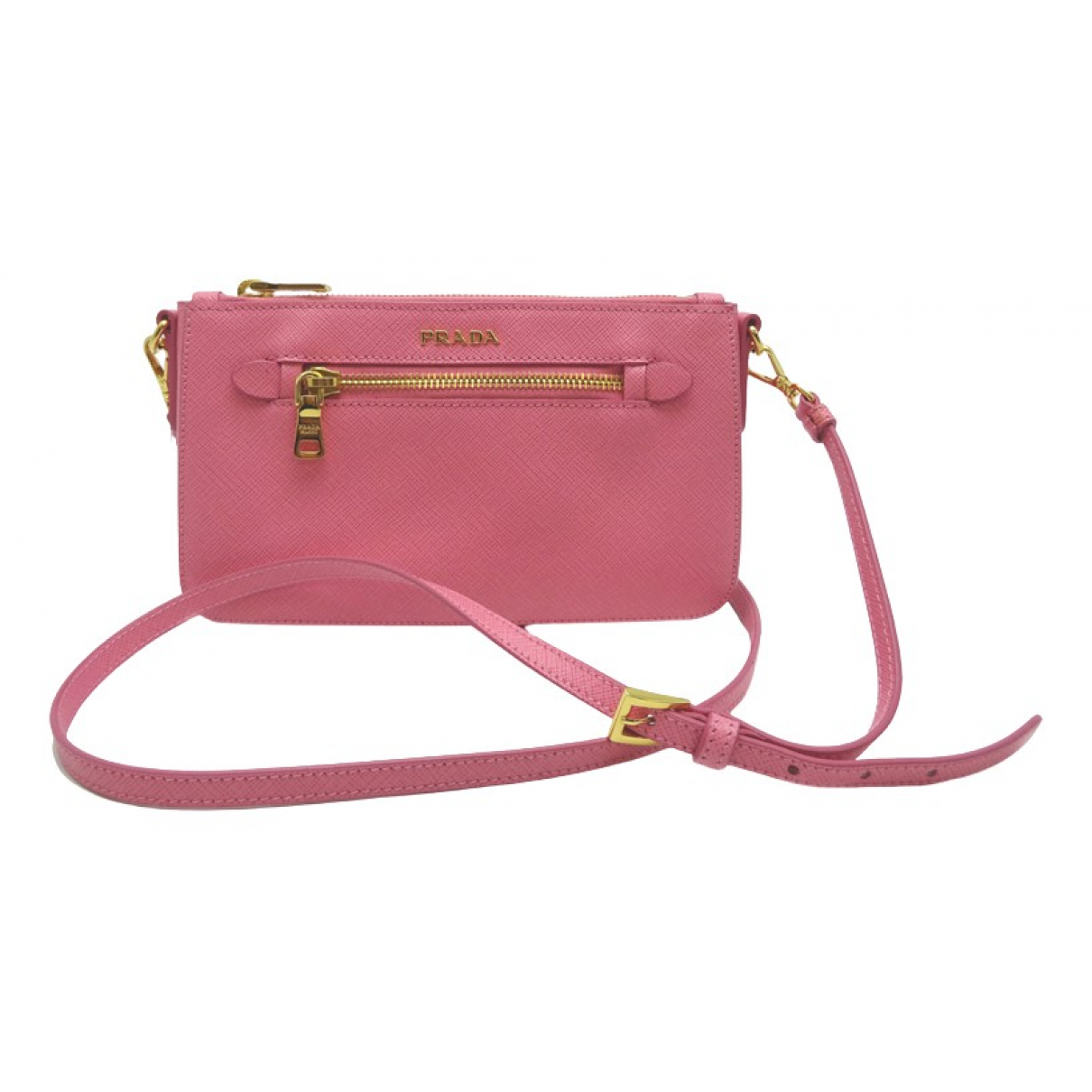 Prada \N Pink Leather Clutch bag for Women \N