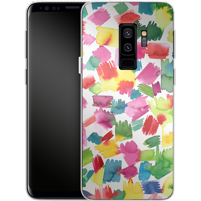 Samsung Galaxy S9 Plus Silikon Handyhuelle - Abstract Spring Colorful von Ninola Design