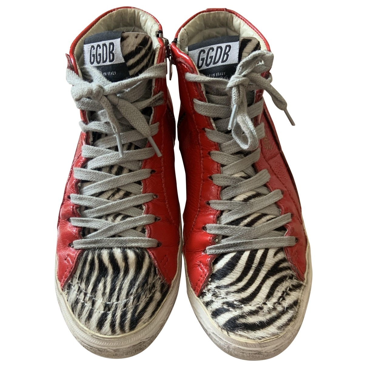 Golden Goose Slide Red Patent leather Trainers for Women 35 IT