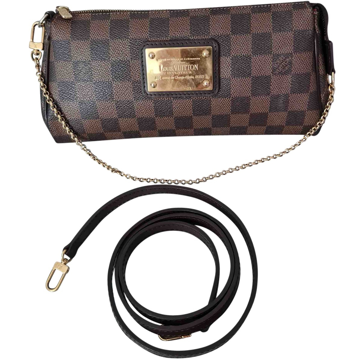 Louis Vuitton Eva Brown Cloth handbag for Women N