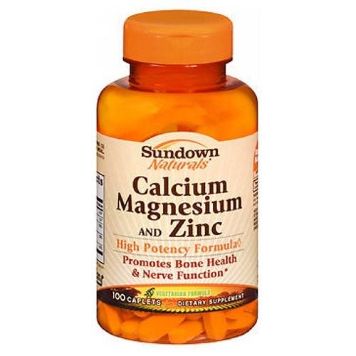 Sundown Naturals Calcium Magnesium And Zinc Caplets 100 each by Sundown Naturals