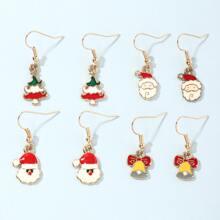 4 Paare Kleinkind Maedchen Weihnachten Ohrringe mit Klingel Dekor