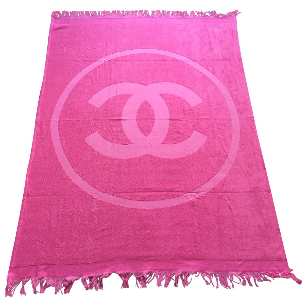 Chanel - Linge de maison   pour lifestyle en coton - rose