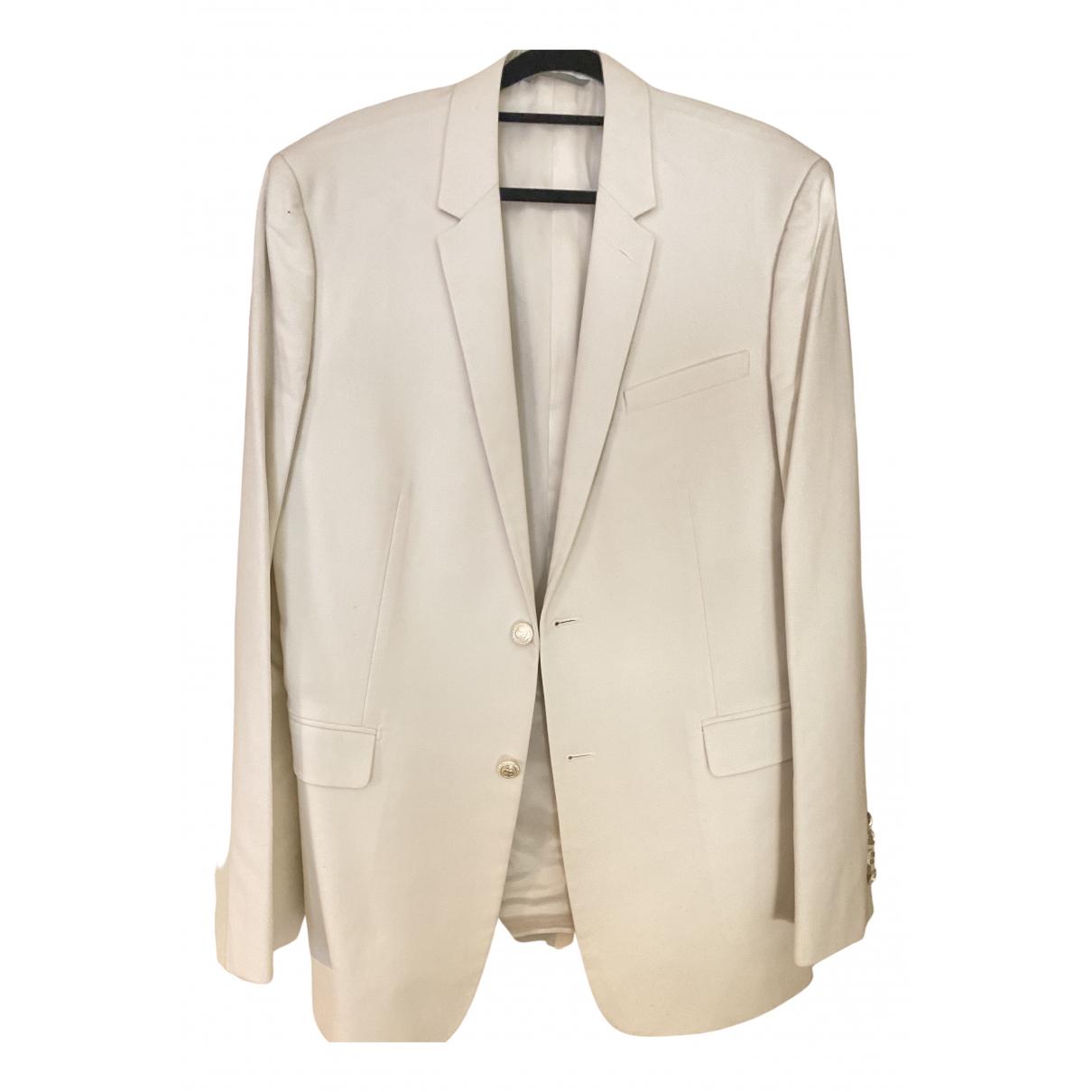 Dior Homme \N Jacke in  Weiss Baumwolle