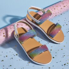Toddler Girls Gradient Glitter Detail Sandals