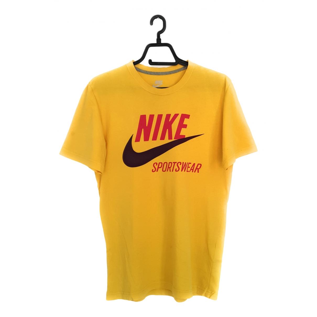Nike \N Yellow Cotton T-shirts for Men S International