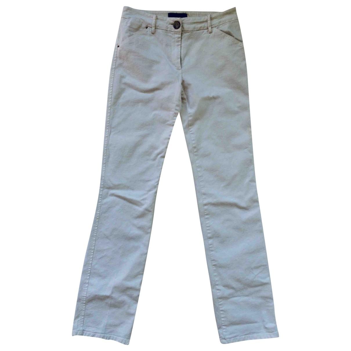 Max Mara Weekend \N White Cotton Trousers for Women S International
