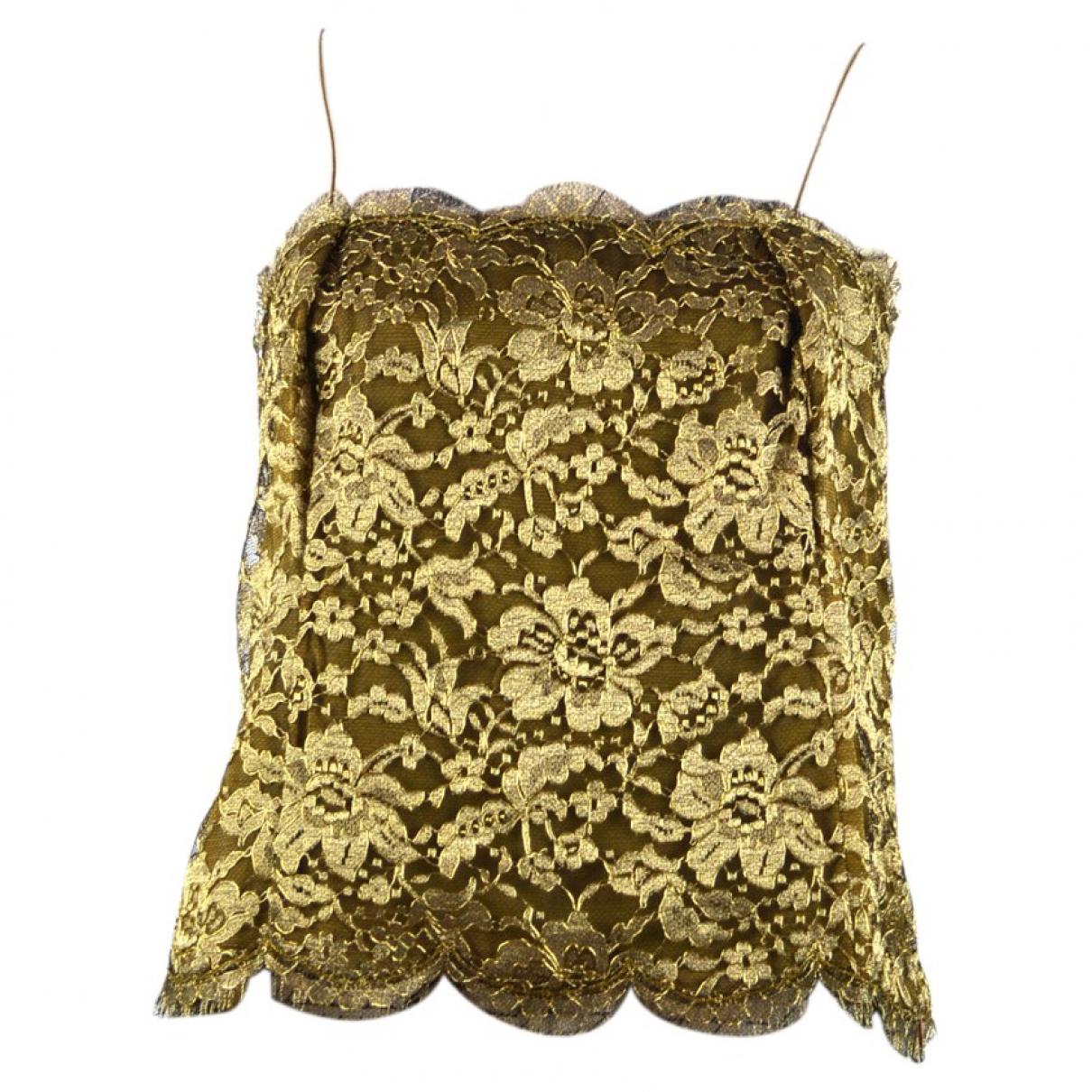 Ralph Lauren - Top   pour femme en dentelle - dore