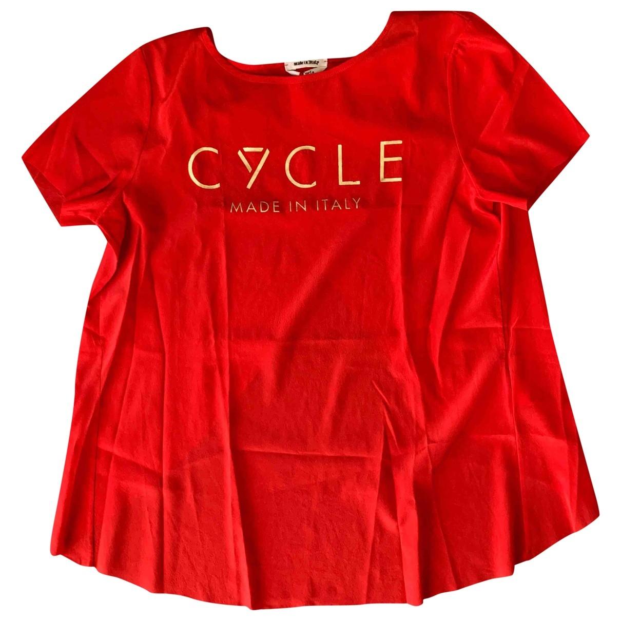 Cycle \N Top in  Rot Seide