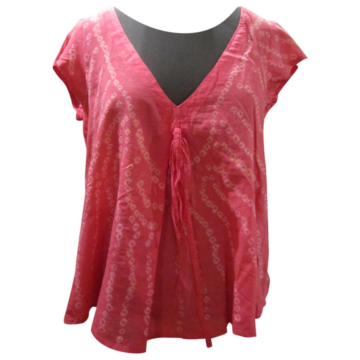 Antik Batik \N Pink Cotton  top for Women L International