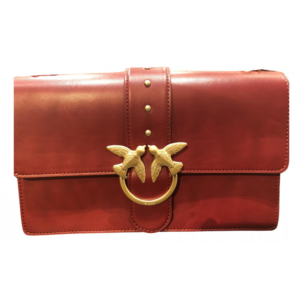 Pinko Love Bag Handtasche in  Bordeauxrot Leder