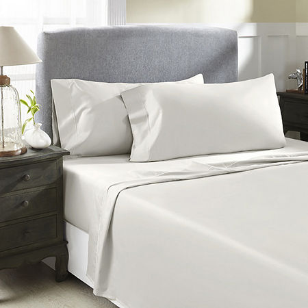 Perthshire Platinum 1000tc Cotton Sateen Sheet Set, One Size , White
