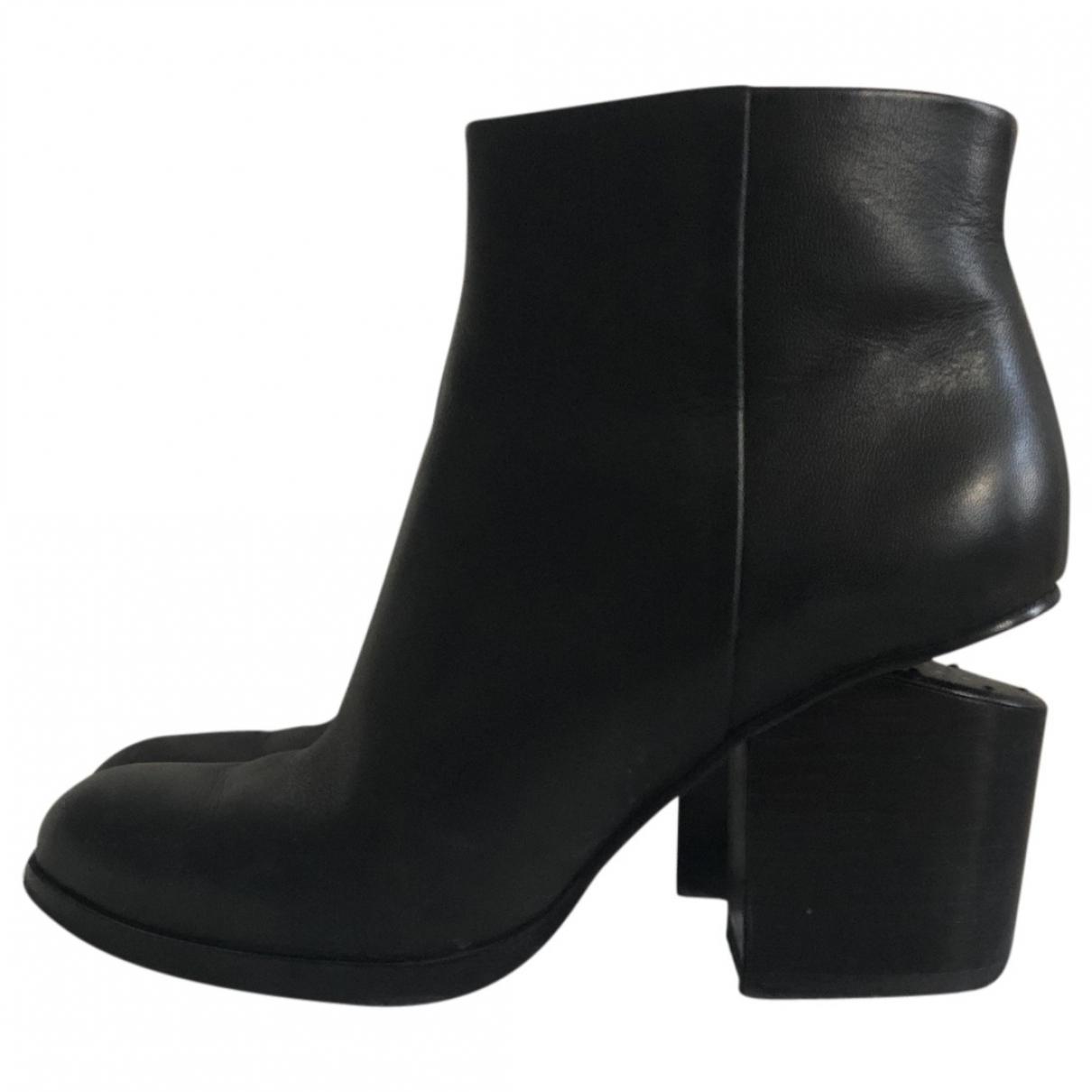 Alexander Wang Kori Black Leather Ankle boots for Women 35 EU