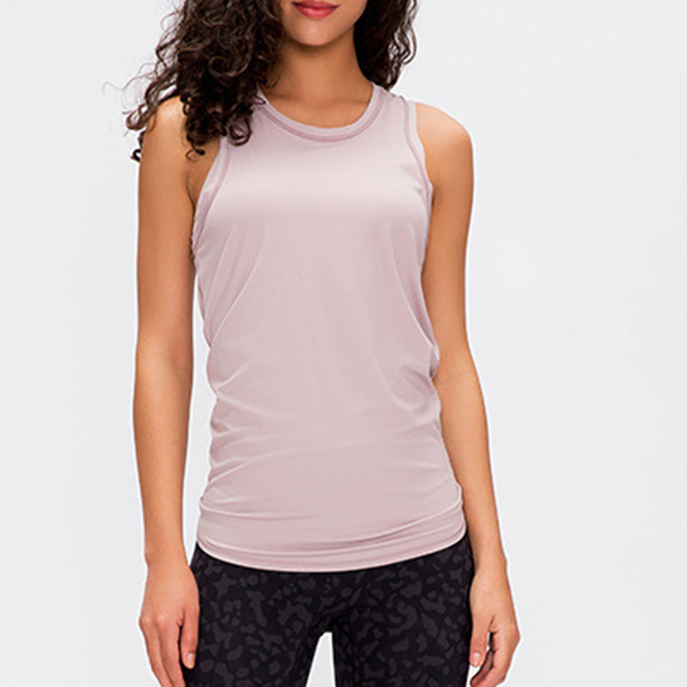 Women's Open Back Loose Fit Workout Tops Backless Short Sleeve Yoga Top Gym Exercise Crop Tank Tops