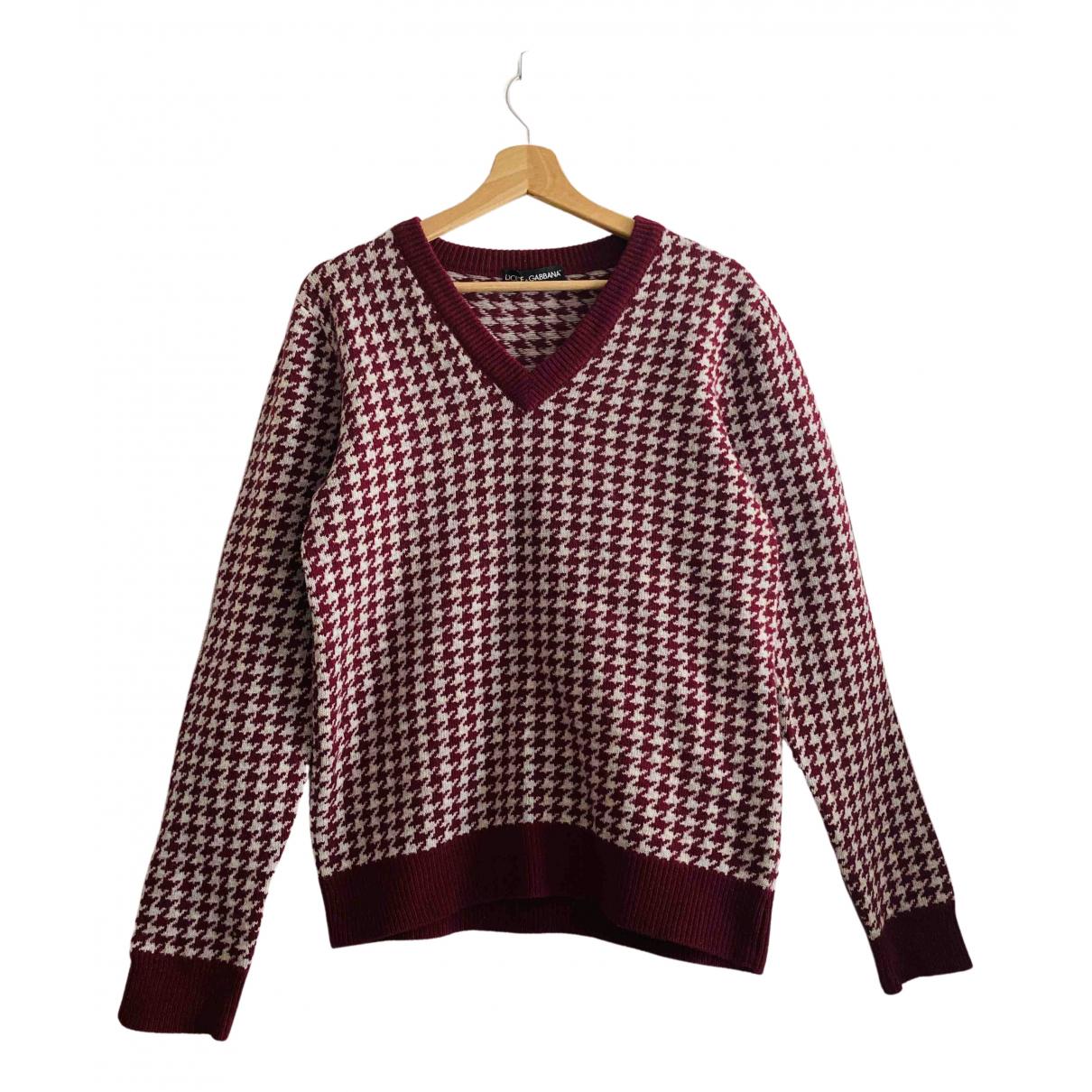 Dolce & Gabbana \N Pullover.Westen.Sweatshirts  in  Bordeauxrot Wolle