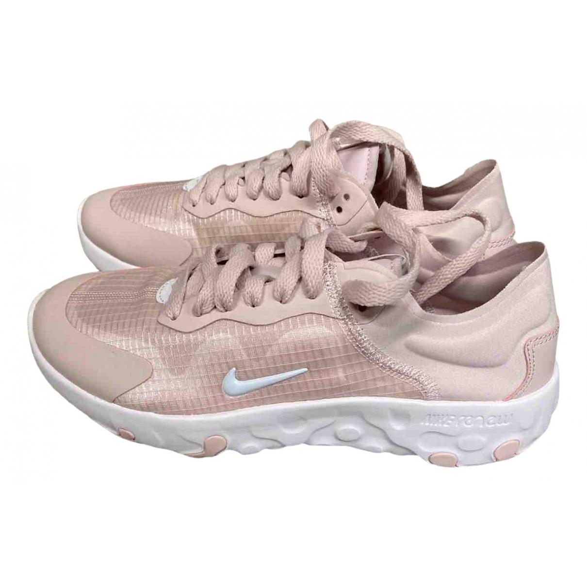 Nike - Baskets   pour femme en toile - rose
