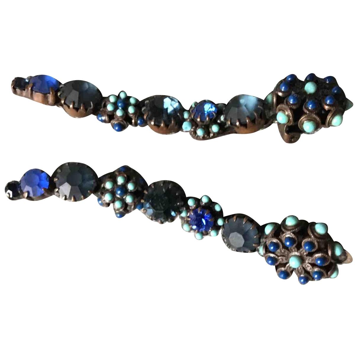 Gas - Boucles doreilles   pour femme en metal - bleu