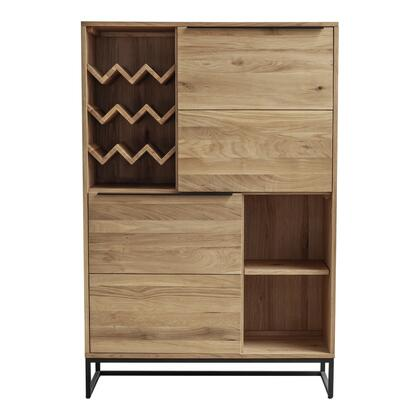 Nevada Collection UR-1002-03 Bar Cabinet with Solid Oak Wood in Brown