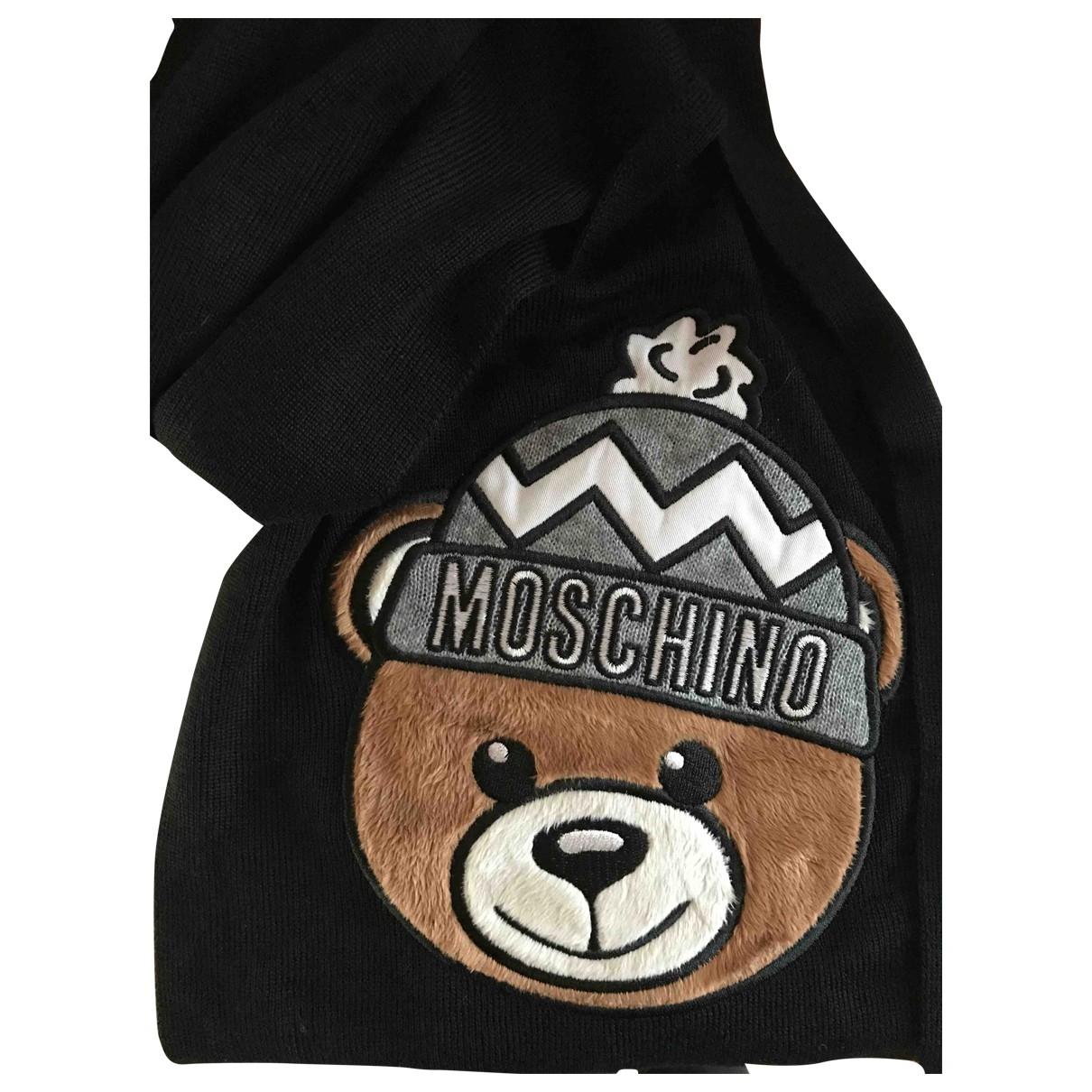 Moschino - Foulard   pour femme en laine - noir
