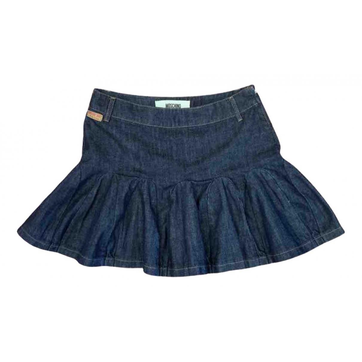 Moschino Cheap And Chic - Jupe   pour femme en denim - bleu