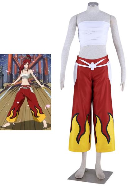 Milanoo Fairy Tail Erza Scarlet Halloween Cosplay Costume Halloween
