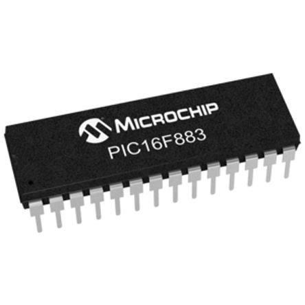 Microchip PIC16F883-I/SP, 8bit PIC Microcontroller, PIC16F, 20MHz, 4096 x 14 words, 256 B Flash, 28-Pin SPDIP (5)