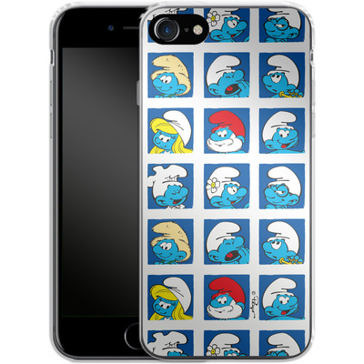 Apple iPhone 8 Silikon Handyhuelle - Smurf Squares von The Smurfs