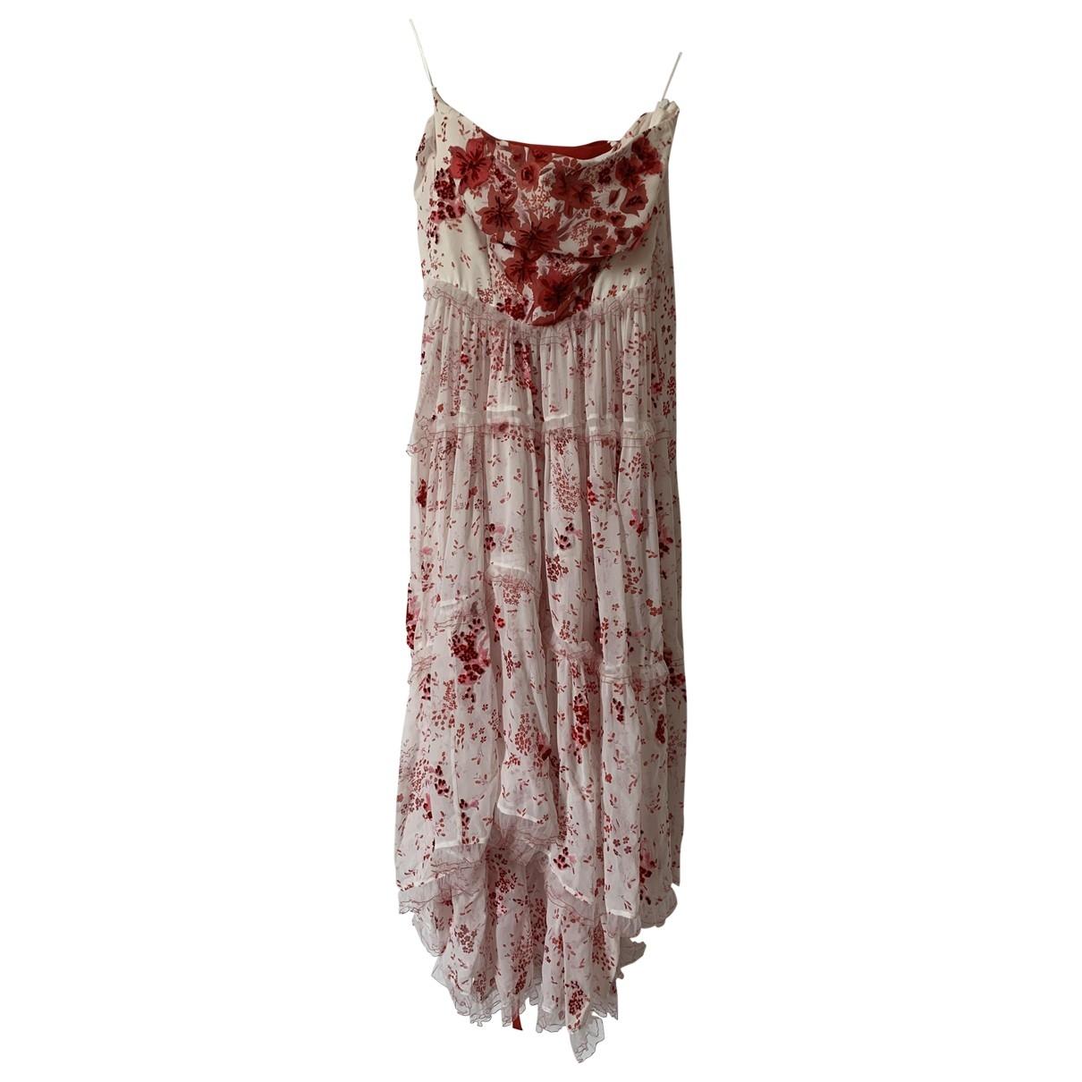 Ermanno Scervino \N White Silk dress for Women 40 IT